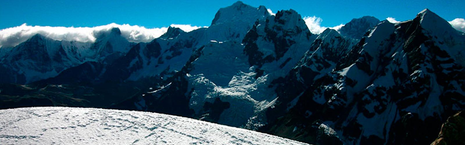 Climbing Diablo Mudo 5,350m Huayhuash Mountain Range Trek Peru